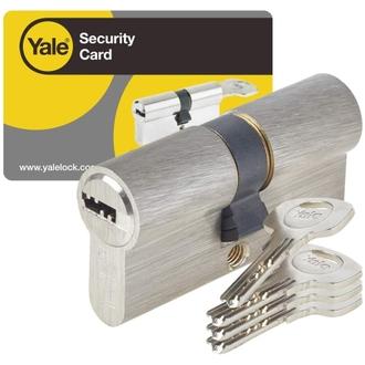 Cylindre de serrure débrayable pour porte extérieure/entrée - Yale série YC1000+