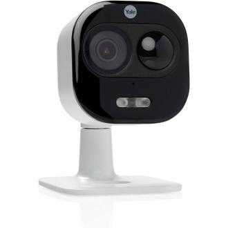 Yale SV-DAFX-W EU Caméra All-in-1 Intérieure / Extérieure 1080p, Caméra WIFI Etanche (IP65), avec Audio Bidirectionnel, Détection de Mouvement et Sirène Intégrée (Compatible Amazon Alexa)