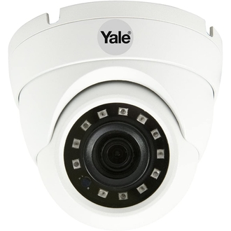 Yale Yale SV-ADFX-W Caméra Analogique HD 1080p pour Système de Vidéosurveillance Intérieur/Extérieur (IP67), Lentille 3.6mm, Vision nocturne, Détection de Mouvement - Sortie HDCVI/CVBS