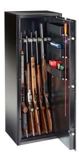 Armoire 7 fusils + Coffret interne - Serrure à clé - Ranger N7S - BURG WÄCHTER