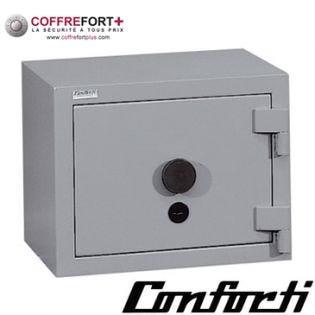 Coffre fort blindé - serrure à clé et combinaison électronique CONFORTI - C20LB