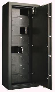 Coffre fort 16 compartiments + Porte principale - Serrure à clé - INFAC SAFE COLLECTIVITE C20T16