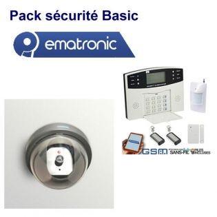 Alarme Maison EMATRONIC AL01 + 4 Caméras factices EM11D