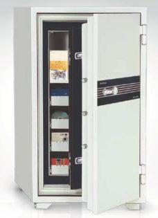 Armoire ignifuge - Serrure à clé double panneton - 825 TDBK
