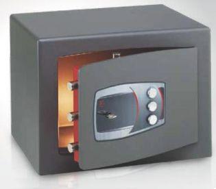 Coffre fort de sécurité à poser - Serrure à clé et combinaison DMD/4