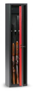 Armoire 5 fusils + coffre interne - Serrure à clé - TECHNOMAX TCH/4