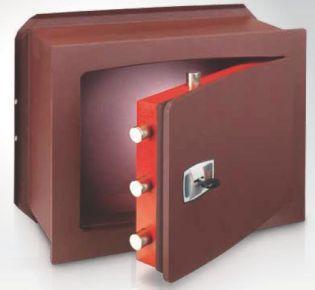 Coffre-fort encastrable serrure à clé double panneton TECHNOMAX UK/4