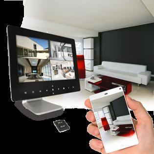 Kit de vidéosurveillance avec enregistreur vidéo sans fil + 2 caméras - THOMSON 512349