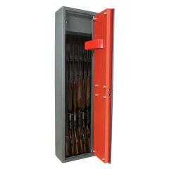 Armoire 7 fusils + coffret interne - Serrure à clé - COFFREFORTPLUS CFPBRA7
