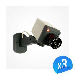 Caméra factice motorisée avec LED Lot de 3 EMATRONIC-13C