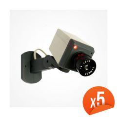 Caméra factice motorisée avec LED Lot de 5 EMATRONIC-13C
