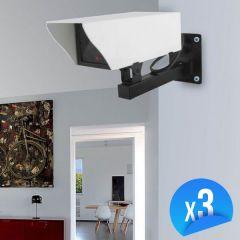 Caméra factice extérieur avec LED Lot de 3 EMATRONIC-EM25C