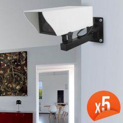 Caméra factice extérieur avec LED Lot de 5 EMATRONIC-EM25C