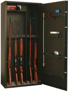 Armoire 12 fusils ou 8 fusil et 5 étagères + coffret interne - Serrure à clé - FORTIFY DELTA 12