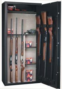 Armoire 14 fusils + coffret interne - Serrure à clé - INFAC SAFE SENTINEL SD14