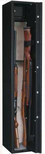 Armoire 4 fusils + 1 dans la porte + coffret interne - Serrure à clé - INFAC SAFE SENTINEL SD5