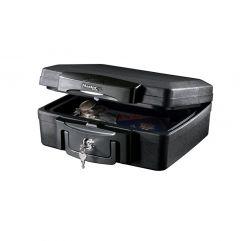 Mallette de sécurité Anti Feu Ignifugé et Étanche - Serrure à Clé - Format S - MASTERLOCK - H0100EURHRO