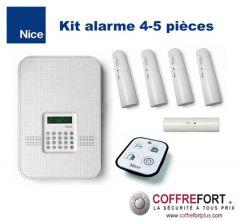 Alarme maison pour 4 ou 5 pièces - NICE - Sans Fil - RTC et GSM