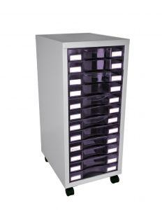 Module rangement du bureau avec roulettes - 12 tiroirs format 24x32cm