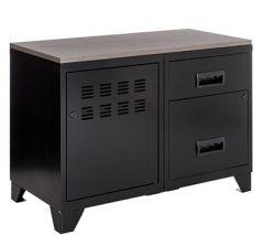 Armoire sur pieds 1 porte + 1 caisse 2 tiroirs - P40xL80xH59,80cm