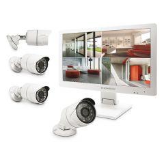 Kit de surveillance avec enregistreur numérique et 4 caméras IP - THOMSON 512444