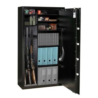 Armoire 14 fusils modulable + coffret interne - Serrure à clé - HARTMANN WT 4030