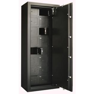 Coffre fort 16 compartiments + Porte principale - Serrure électronique - INFAC SAFE COLLECTIVITE C20T16E