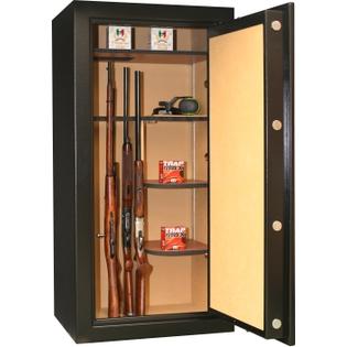 Armoire ignifuge 24 fusils avec lunette + coffret interne - Serrure à clé - INFAC PRESIDENTIAL PK75