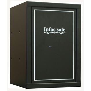 Coffre fort pour armes de poing et objets divers - 2 étagères - Serrure à clé - INFAC SAFE SC6