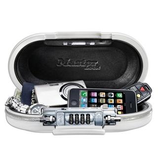 Mini coffre-fort portable avec câble - Blanc - MASTERLOCK  - 5900EURDWHT