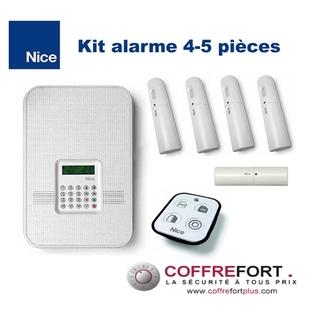 Alarme maison pour 4 ou 5 pièces - NICE - Sans Fil - RTC