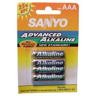 Lot de 4 Piles alcalines AAA 1,5V - SANYO
