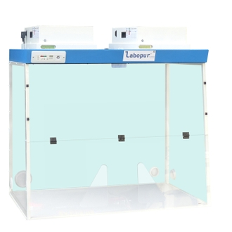 Hotte à filtration H12 + 2 Modules de filtration + Passage 2 mains - H122D LABOPUR®